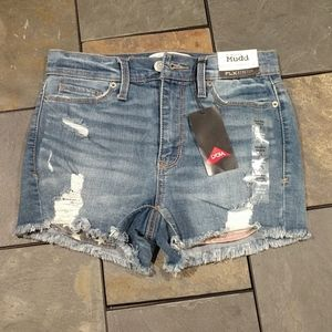 NWT Mud High-Rise Shorties Flx Stretch Jean shorts